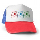 4TheCrime Mens Hat Spray Nozzels Red Blue White