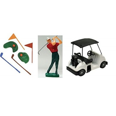Cake Decorating Kit CupCake Decorating Kit Sports Toys (Golf Kit with Cart)