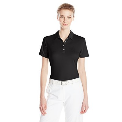 adidas Golf Women's Performance Polo T-Shirt, Black, X-Small