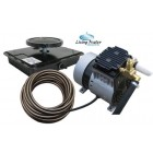 AirPro Pond Aerator Kit by Living Water - Rocking Piston Pond Aeration System for Up to 1 Acre - Minimize Odor, Prevent Fish Kill - Includes 1/4 HP...