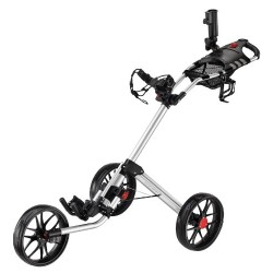 Caddytek Super Deluxe Quad Fold Golf Cart, Silver