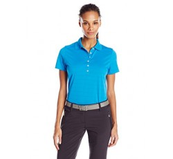 Callaway Women's Golf Short Sleeve Pique Open Mesh Polo Shirt, Medium Blue, Medium
