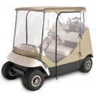 Classic Accessories Fairway Travel 4-Sided 2-Person Golf Cart Enclosure, Tan