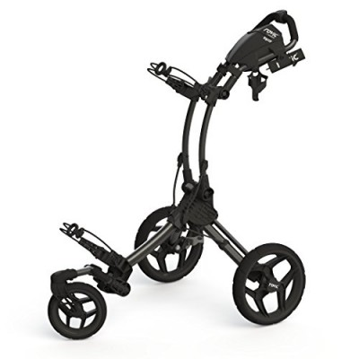 Clicgear Rovic Swivel RV1S Golf Push Cart, Charcoal/Black