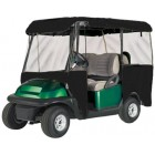 Greenline 4 Passenger Drivable Golf Cart Enclosure (Jet Black, 106x47.5x62-Inch)