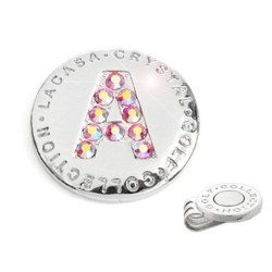 Elixir Golf Crystal Golf Ball Marker with Hat Clip, Initial A