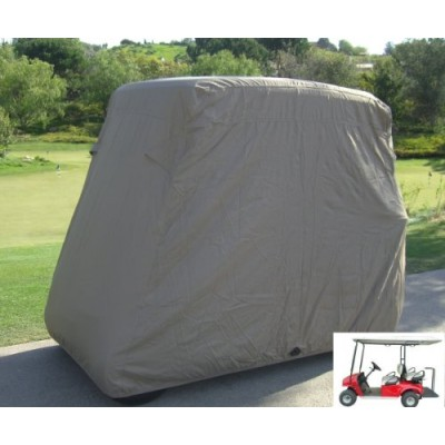 "Deluxe 4 Passenger Golf Cart Cover roof 80""L Taupe, fits E Z GO, Club Car and Yamaha G model"
