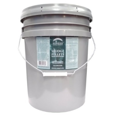 25 pound pail of Ginesis Sludge Pellets - Natural Water Treatment for