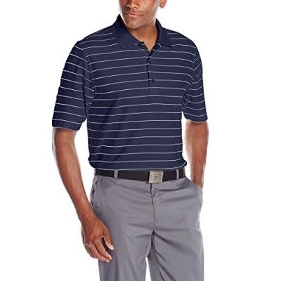 Greg Norman Collection Men's ProTek Micro Pique Stripe Polo, Navy/White, X-Large