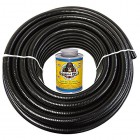 HydroMaxx 50 Feet x 3/4 Inch Black Flexible PVC Pipe, Hose and Tubing for Koi Ponds, Irrigation and Water Gardens. Includes Free 4oz Can of Hot Blu...
