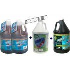 Pond Water Treatment Trio Microbe-lift 2 Gallons PL + Algaway 5.4 + Sludge Away