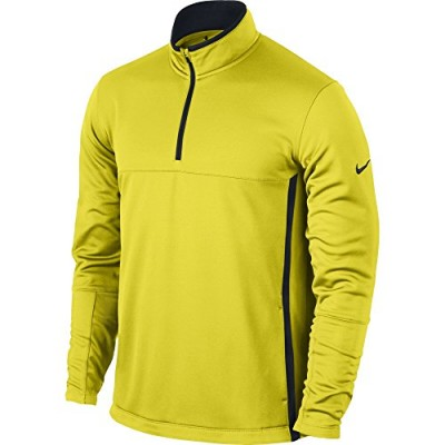 NIKE Men's Therma-FIT Cover-Up Jacket, Electrolime/Black/Anthracite, 2X-Large