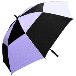 RainStoppers 60-Inch Windbuster Golf Umbrella (Black and White)