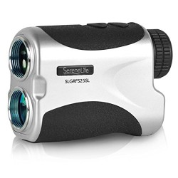 SereneLife Premium Slope Golf Laser Rangefinder with Pinsensor - Digital Golf Distance Meter - Compact Design -With Case