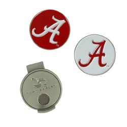Team Effort Alabama Crimson Tide Hat Clip & 2 Ball Markers