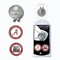 NCAA Alabama Crimson Tide Cap Clip With 2 Golf Ball Markers