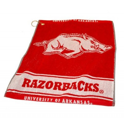 NCAA Arkansas Razorbacks Jacquard Woven Golf Towel