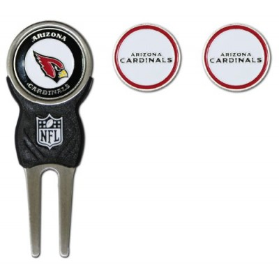 NFL Arizona Cardinals Divot Tool Pack With 3 Golf Ball Markers