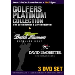 Golfer's Platinum Collection with Butch Harmon and David Leadbetter - 3 DVD SET