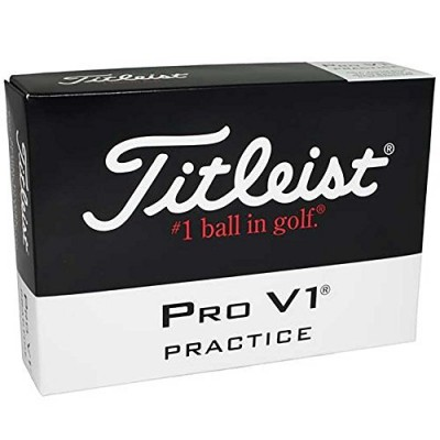 Titleist Pro V1 Practice Golf Balls, White (One Dozen)