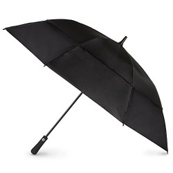 totes Auto Open Vented Golf Stick Umbrella,  Black,  One Size