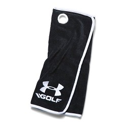 Under Armour Golf Towel, Black/White, One Size