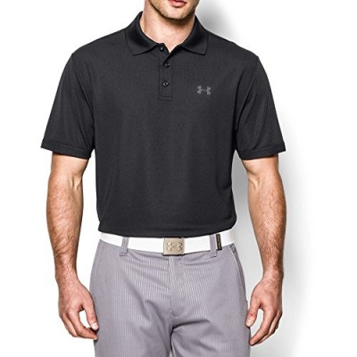 Under Armour Men's Performance Polo, Black/Steel, XXX-Large