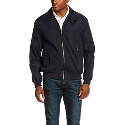 Weatherproof Garment Co. Mens Microfiber Classic Jacket, Navy, Medium
